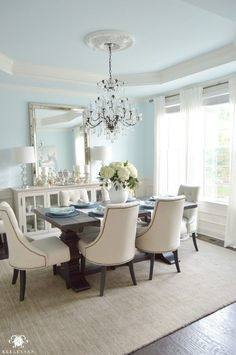 Check out these 5 Ways to Update Your Dining Room Table instead of replacing it