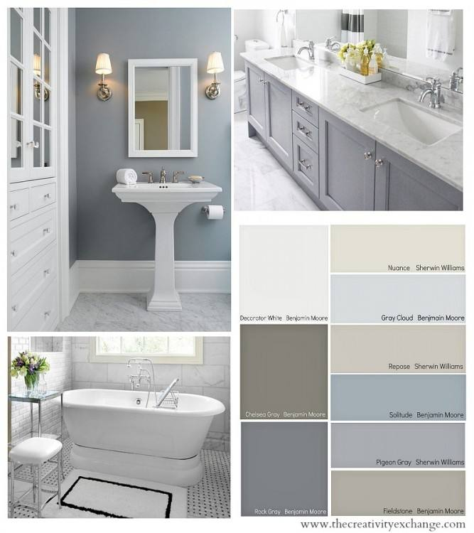 A soft, inviting, budget friendly bathroom remodel for less than $100