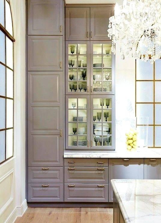 View in gallery Alternate between transparent and opaque cabinet doors
