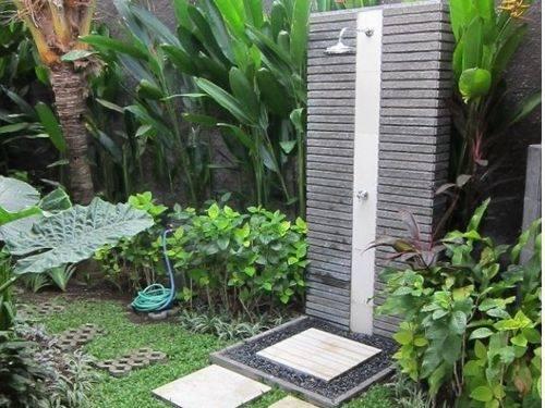 Outdoor shower in Bali