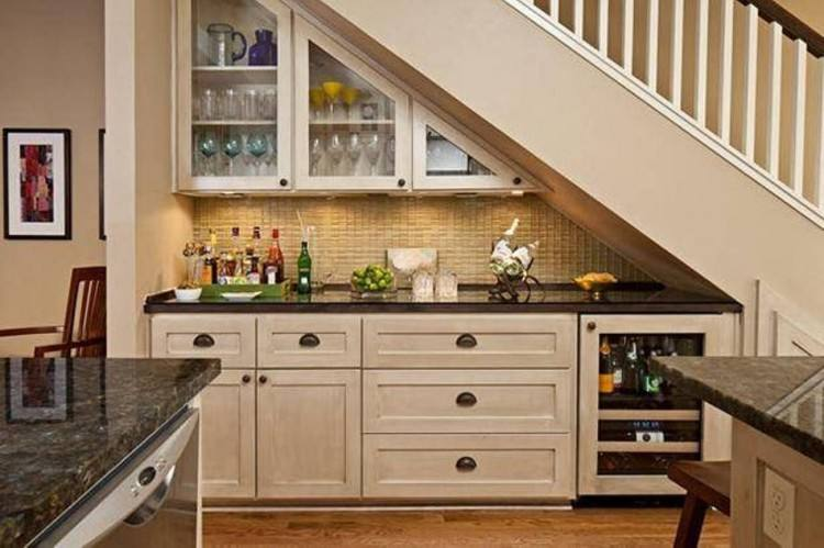 Kitchen, built in under the stairs space