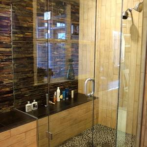 river rock bathroom ideas