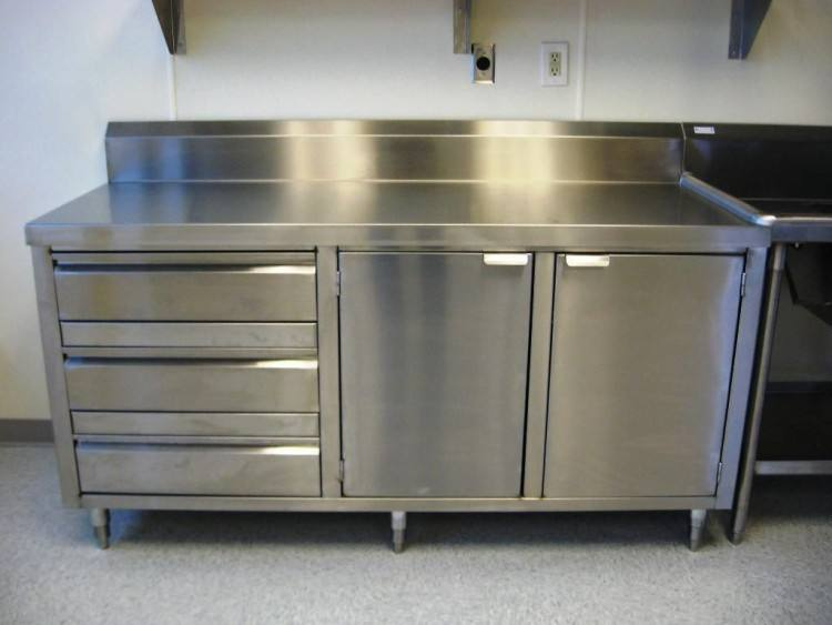 Kitchen: Elegant Stainless Steel Kitchen Cabinet Accessories And Stainless Steel Cabinets Second Hand from The Popularity Of The Kind Of Stainless Steel