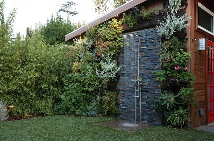 outdoor shower enclosure kit wooden pertaining to plans 8 diy easy  enclosures out