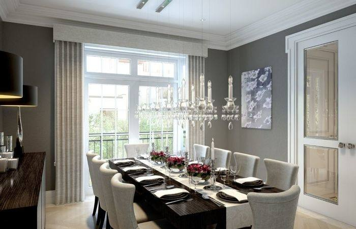 Transitional dining room has a serene, calming vibe [Design: Urban Home Magazine]