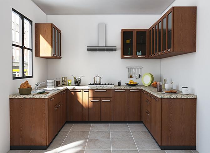 Beautiful kitchen cabinet brown white with island lagos abuja phc nigeria fela