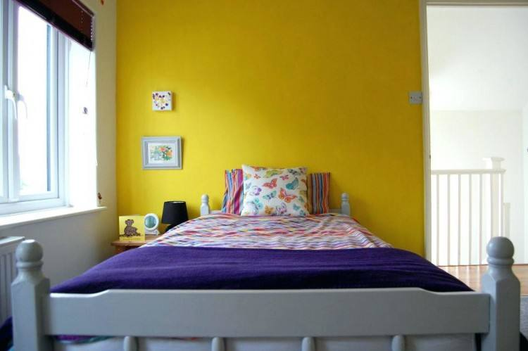 All about bedroom, Mustard Yellow And Grey Bedroom: yellow bedroom ideas Medium
