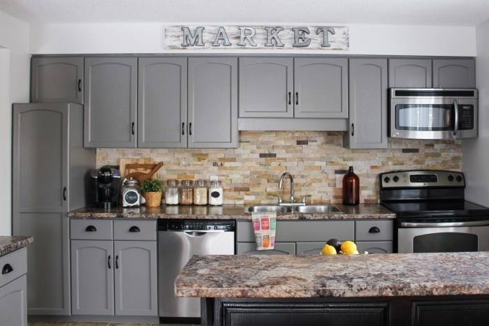 Are bright, colorful kitchen cabinet doors too bold for you and your home? Why not go with a darker color
