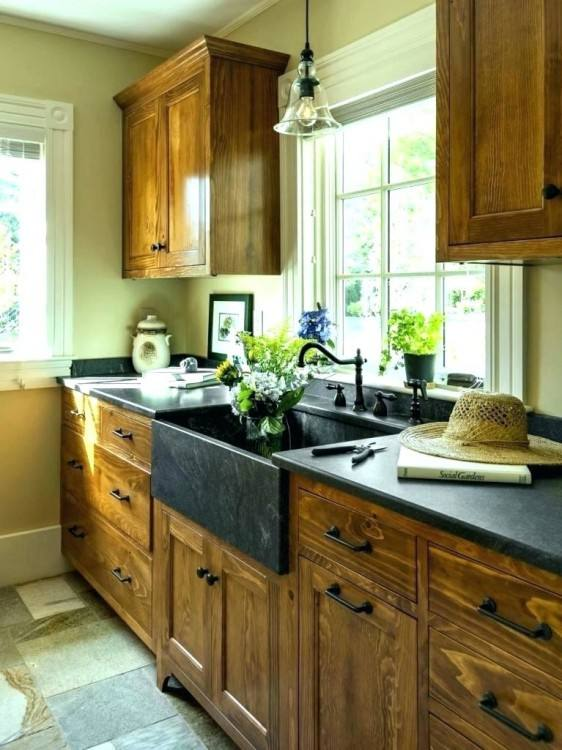 Baffling Design Old Country Kitchen Ideas featuring Rectangle Shape Kitchen Island and Curve Shape Brown