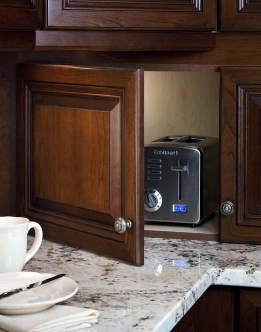 kitchen cabinets that hide appliances cabinet appliance