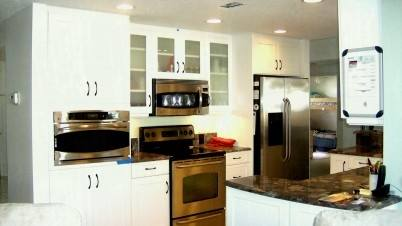 One of the hottest trends in kitchen design is to integrate large appliances into the kitchen cabinetry, allowing them to be completely camouflaged