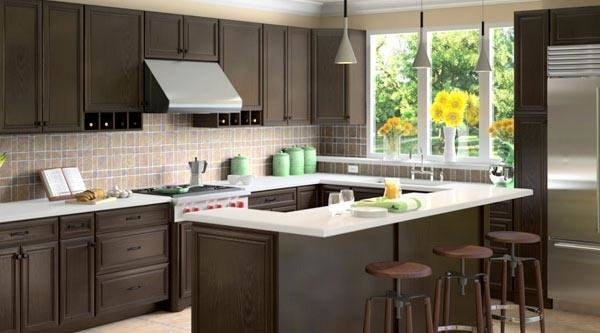 Expresso Shaker Kitchen Cabinets Walkers Mill