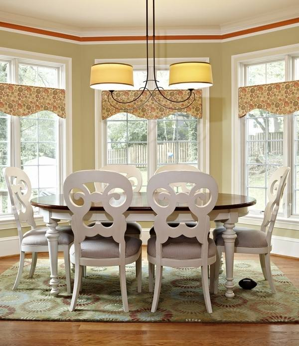 swags knots panels in dining room valance ideas valances