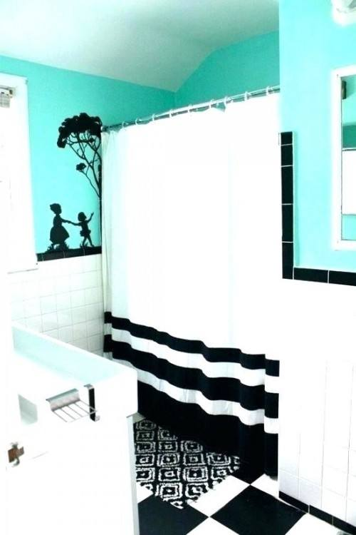 teal and black room decor