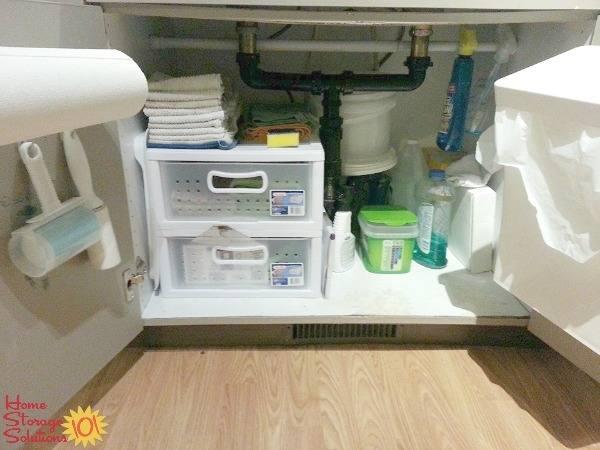 Cabinets Under Sink Right Way To Organize Kitchen · •