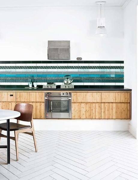 'Aotearoa' printed image on glass kitchen splashback