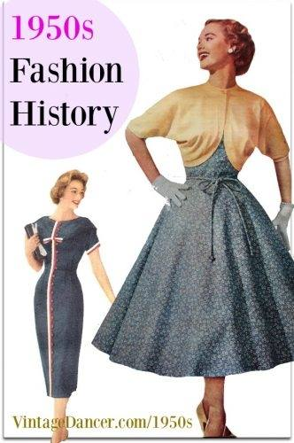 1950s Long, Slim Dress
