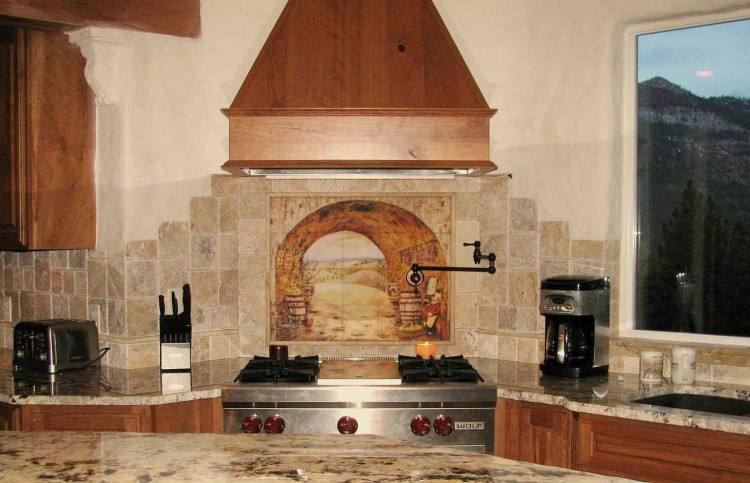 A Tuscan style kitchen brings rich