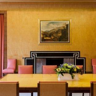 Orange Dining Room · Yellow Walls · Apartment Therapy · Wall Design