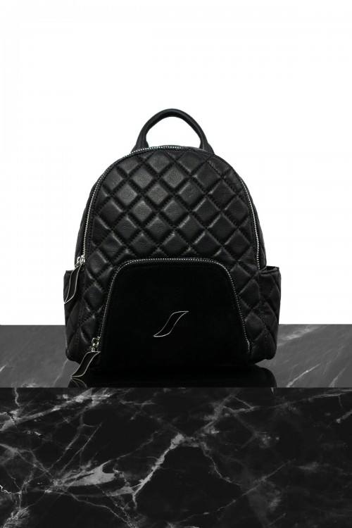 quilted metallic kane backpack by STATE Bags