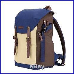 Waterproof Canvas Photography Bag Men Women Shoulder Bag Camera Backpack for Canon DSLR SLR Digital