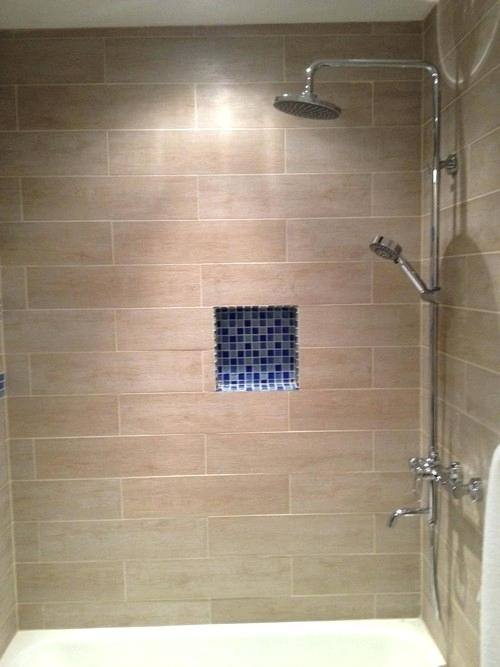 Wood Tile Bathroom Design
