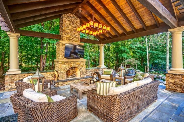 Outdoor living and patio cover options add an entertainment area that can be used year around