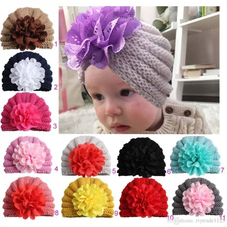 2019 Kids Trend Hats Kids Winter Fashion Outdoor Hats Knitted Beanie With Stereo Floral Caps Slouchy Crochet Hats From Ivytrade1125, $1