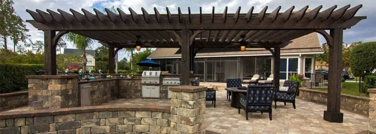 Outdoor Grill and Patio by Unilock at Benson Stone Co