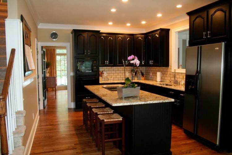 Large Size of Kitchen:white Kitchen Black Appliances Kitchens With White Cabinets And Black Appliances