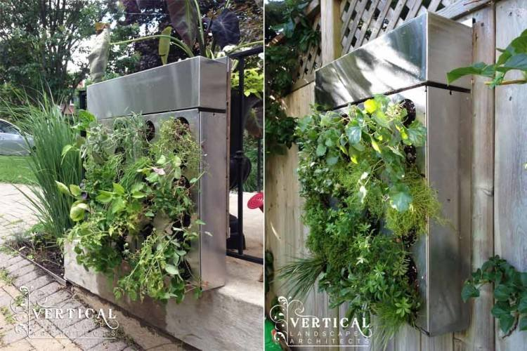 Outdoor green walls are primarily visual elements