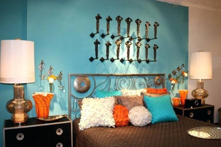 burnt orange accent wall living room bedroom