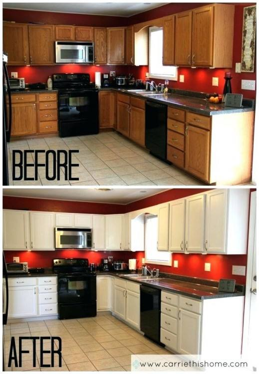 I just love these white cabinets that were painted by www