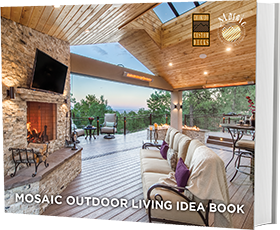 There's nothing else to want in this incredibly spacious outdoor porch space built for a 2014 Homearama® home