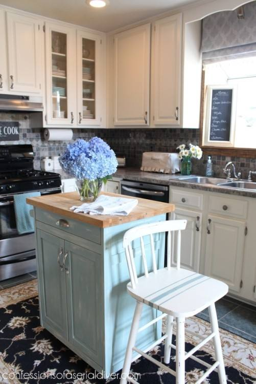 Kitchen Cabinet Makeover with Chalk Paint artsychicksrule