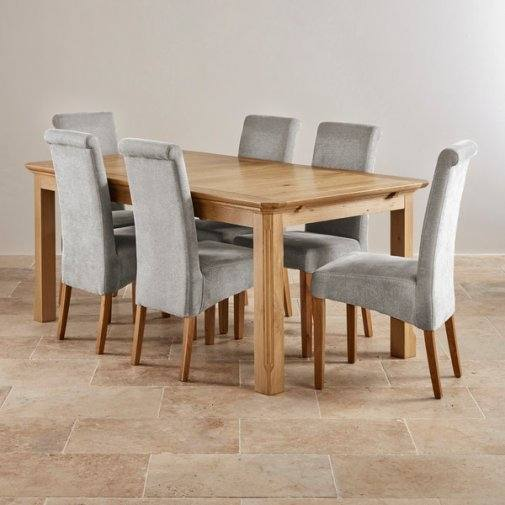 oak table and chairs formal dining room
