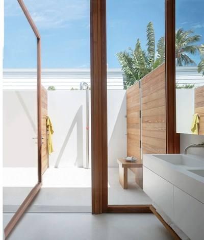 outdoor shower ideas waterfall shower