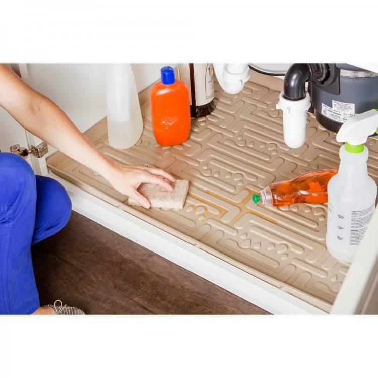 kitchen cabinet mats under sink mat home depot kitchen cabinet spill tray combo pan under sink