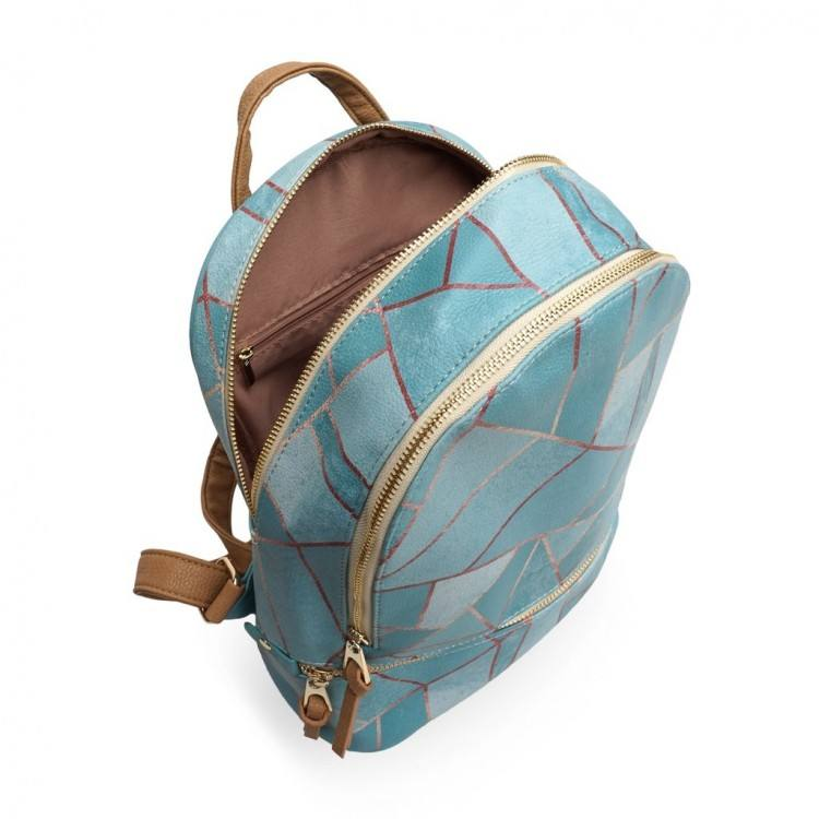 vegan blue backpack