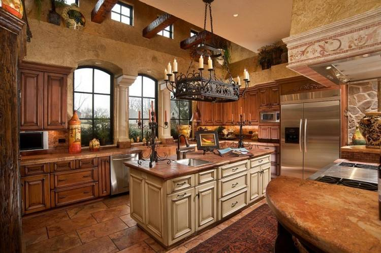 Large #Kitchen Remodel space with traditional accents that make it a great place for entertaining