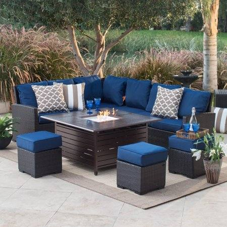 contemporary outdoor living space: Powder coated steel fire pit