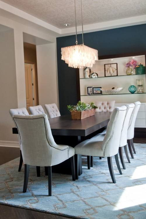transitional round dining table dining table decor ideas room transitional with framed art place settings chairs