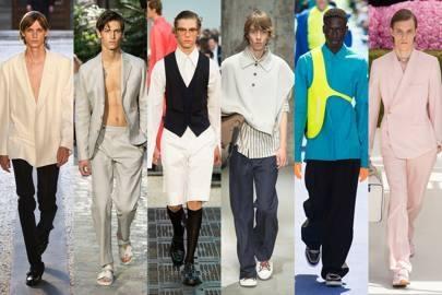 L to R: Versace, Dior, Dunhill, Fendi, Wooyoungmi, Alexander McQueen, Oliver Spencer, Louis Vuitton, Dolce & Gabbana, Ermenegildo Zegna