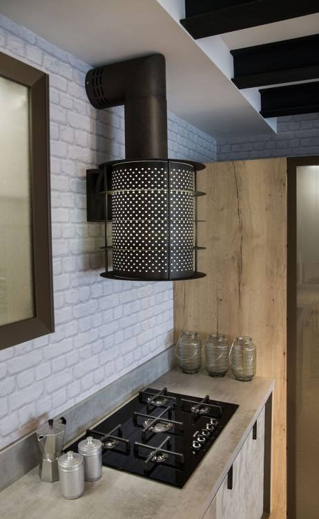This stunning urban kitchen in Toronto, Ontario, is a cool Ikea design that transforms a kitchen into aesthetically pleasing yet functional design