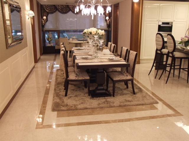 tile flooring ideas for dining room rustic decor ideas open plan kitchen dining room tile home
