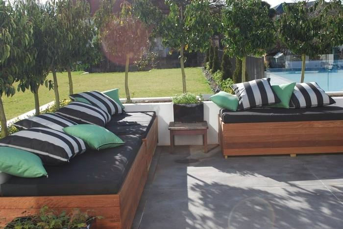 Most of your better outdoor cushions are upholstered in