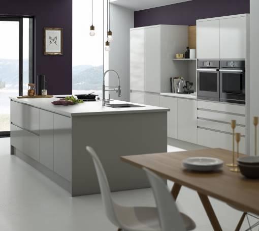 White and sage green kitchen | Kitchen storage | Kitchen | PHOTO GALLERY | 25 Beautiful Homes | Housetohome