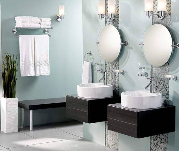bathroom interior ideas with flowers and plants ideal for summer in vase