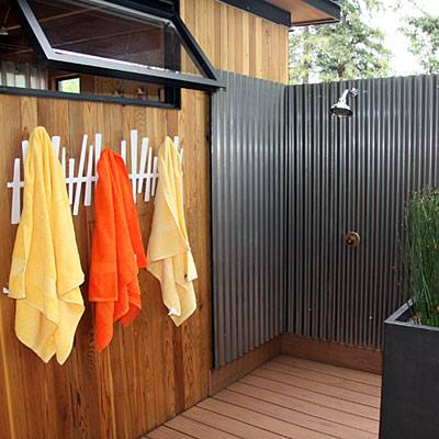 When we first bought our cottage in 2008, I knew there was a lot of work we wanted to do, but the first thing on my list was an outdoor shower