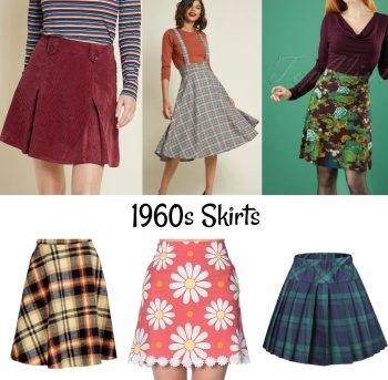 Women's fashion trends in the 1960s swung wildly from one end of the spectrum to the other